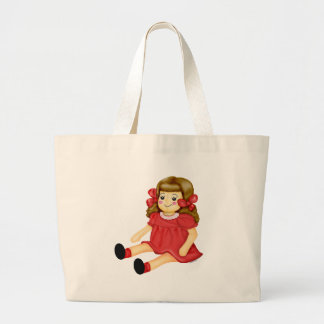 Doll in Red Tote Bag