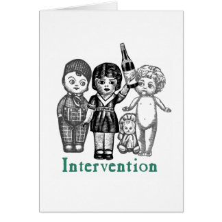 Doll Intervention Greeting Card