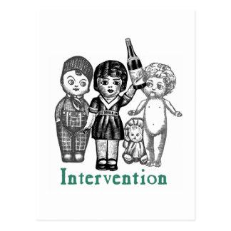 Doll Intervention Postcard