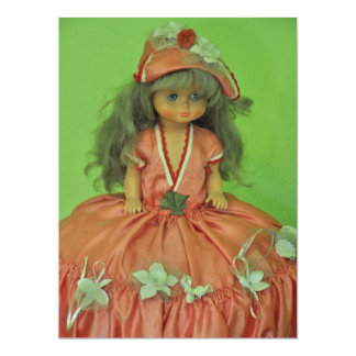 "Doll 6.5"" X 8.75"" Invitation Card"
