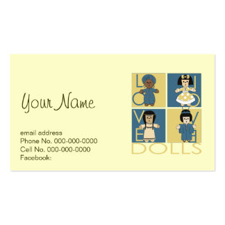 Doll Lover Double-Sided Standard Business Cards (Pack Of 100)