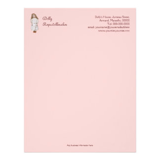 Doll maker or repairer reproduction doll letterhead