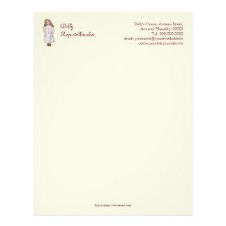 Doll maker or repairer's business letterhead