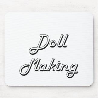 Doll Making Classic Retro Design Mouse Pad