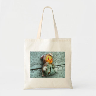 Doll on Ground Tote Canvas Bags
