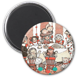 Doll Party 2 Inch Round Magnet