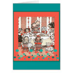 Doll Party Greeting Card