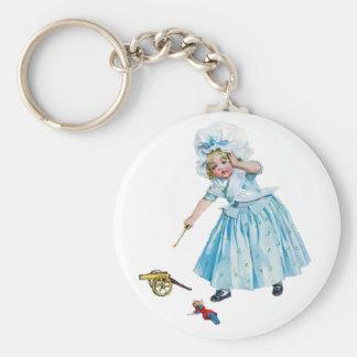 Doll Pitcher Basic Round Button Keychain