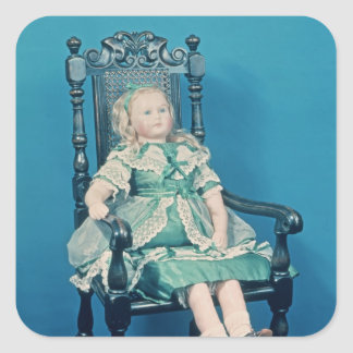 Doll, probably made by Charles Marsh, 1865 Square Sticker