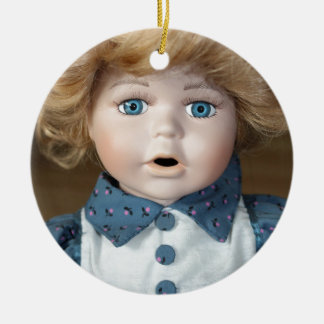Doll Puppet show Eyes Ceramic Ornament