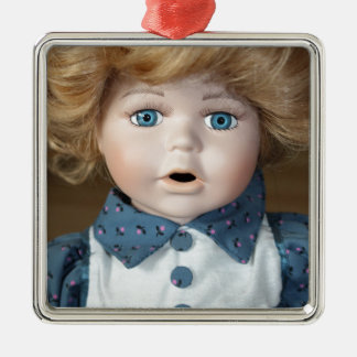 Doll Puppet show Eyes Metal Ornament