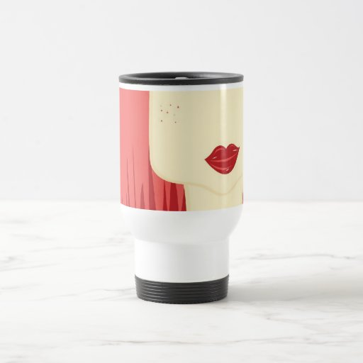 doll red hair 15 oz stainless steel travel mug