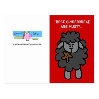 Doll Sized Sheepeh Christmas Greeting Card