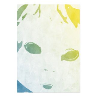 Doll Watercolor Large Business Card