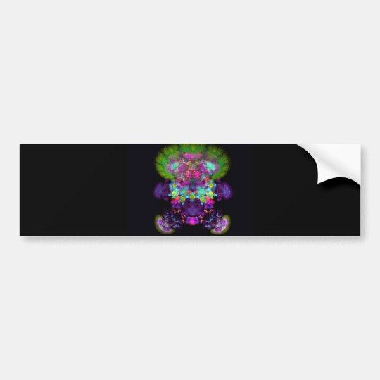 doll-with-green-hair abstract random fractal digit bumper sticker