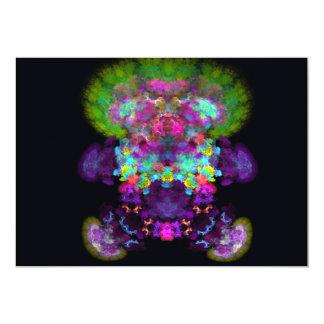 "doll-with-green-hair abstract random fractal digit 5"" x 7"" invitation card"