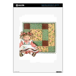 Doll with Quilt iPad 3 Decals