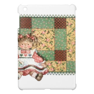 Doll with Quilt iPad Mini Covers