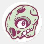 DOLLA round skullie slap Round Sticker