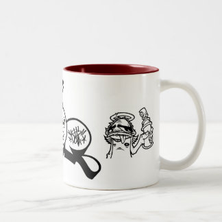 dolla throwie & angel with can Two-Tone coffee mug