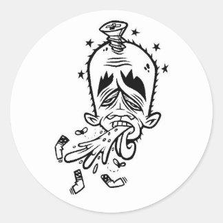 dolla yok yak1 classic round sticker