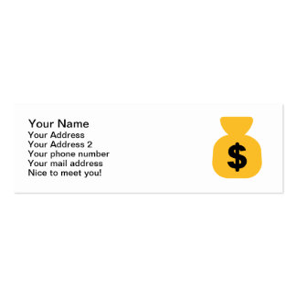 Dollar bag Double-Sided mini business cards (Pack of 20)