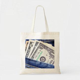 dollar bill bag