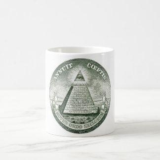 Dollar Bill Freemason Illuminati Pyramid Classic White Coffee Mug