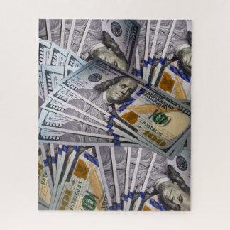 Dollar bill jigsaw puzzle