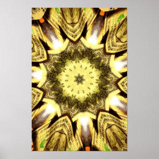 Dollar bill kaleidoscope print