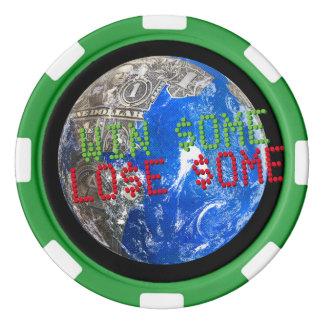 Dollar Bills World Win Some Lose Some Poker Chips Set