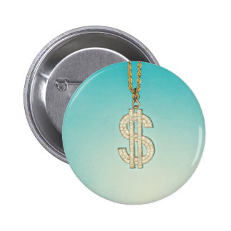 Dollar Bling Button