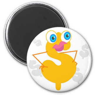Dollar Character 2 Inch Round Magnet