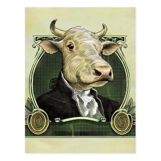 Dollar Cow Postcard