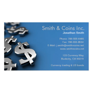 Dollar Currency Symbols Business Card