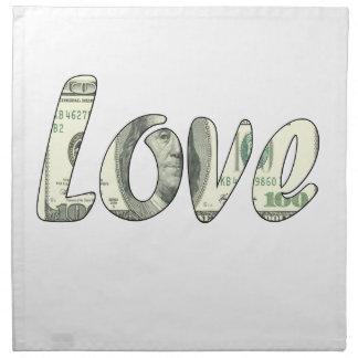 Dollar love cloth napkin