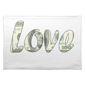 Dollar love placemat