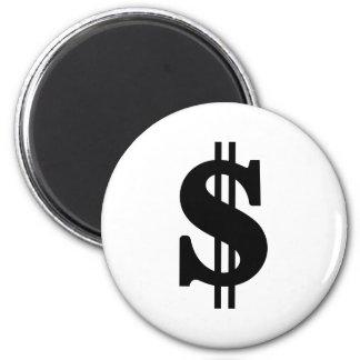 Dollar 2 Inch Round Magnet