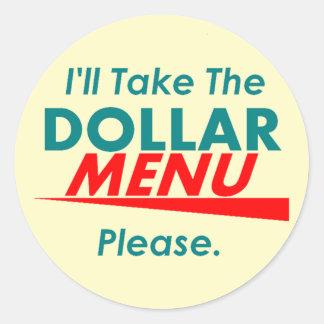 DOLLAR MENU Sticker