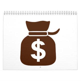 Dollar money calendar