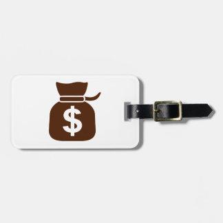 Dollar money luggage tag