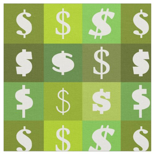 Dollar money sign pattern fabric