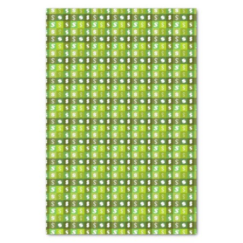Dollar money sign pattern tissue paper