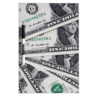 Dollar notes 1 Dollar Dry Erase Board