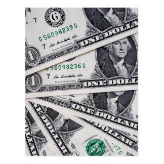 Dollar notes 1 Dollar Postcard