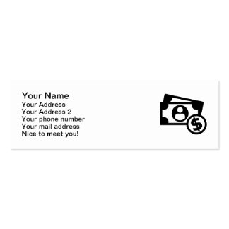 Dollar notes coins Double-Sided mini business cards (Pack of 20)