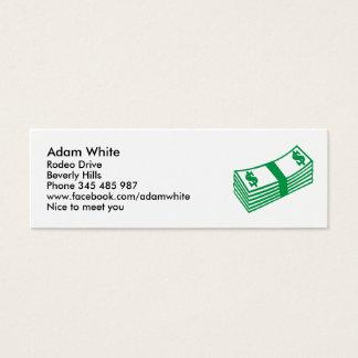 Dollar notes mini business card