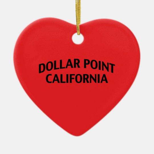 Dollar Point California Ceramic Ornament