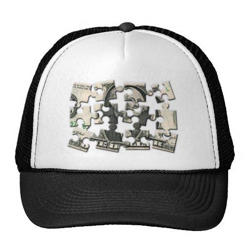 Dollar Puzzle Hats