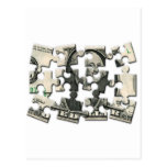 Dollar Puzzle Post Card